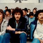 1981年5月 国立競技場にて日本代表戦 (左から)マリーニョ氏、ラモス、与那城ジョージ氏